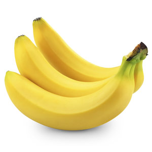not quite ripe bananas
