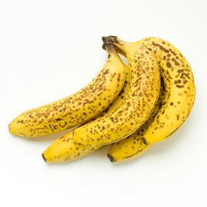 Nice ripe bananas - eat them now!