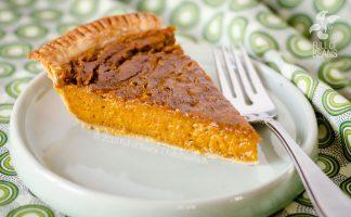 Vegan Pumpkin Pie serving