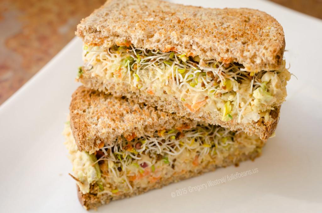 Yummy Vegan Tuna Sandwich, Ready To Eat!