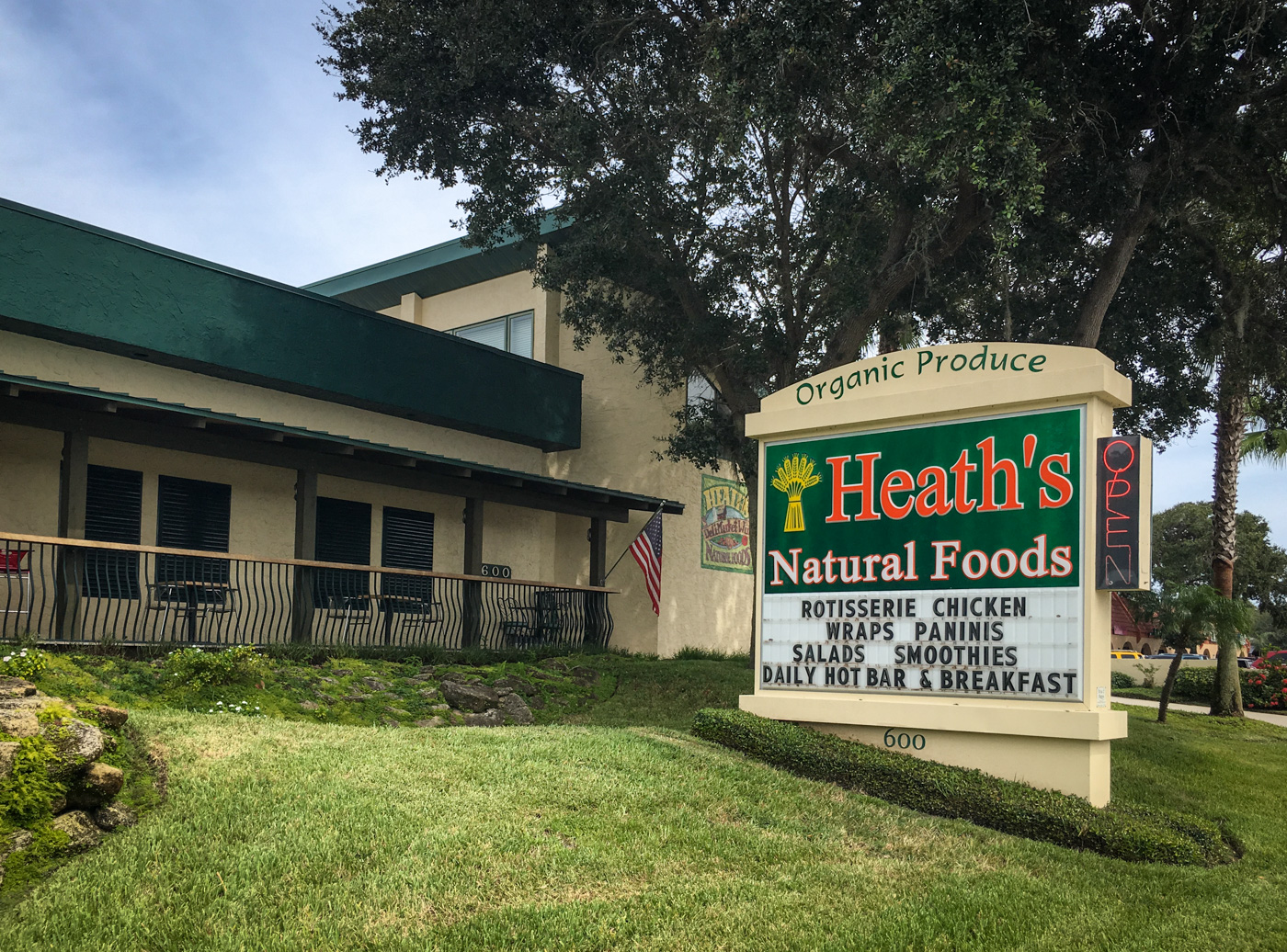 Exterior Heaths Natural Foods Cafe 1