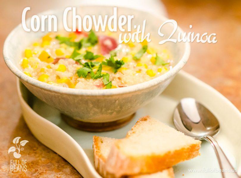 Vegan Corn Chowder with Quinoa