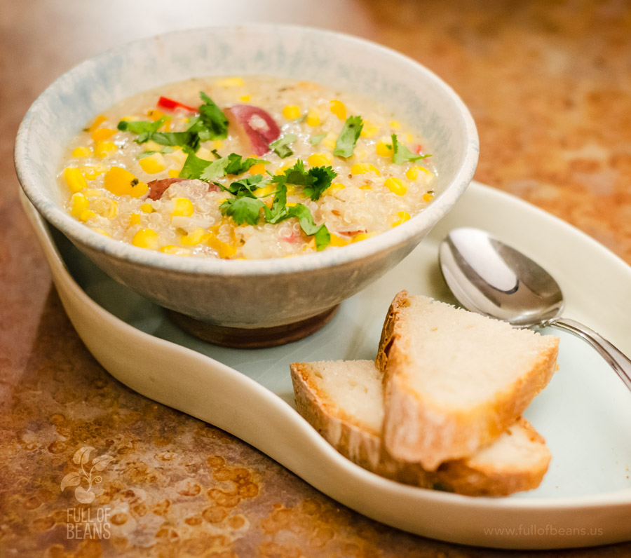 Vegan Corn Chowder With Quinoa