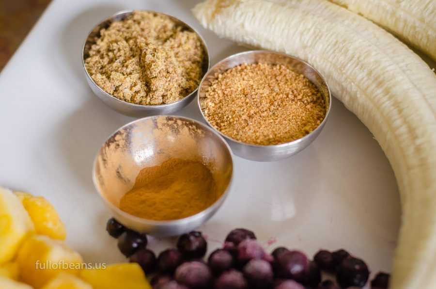Coconut sugar, ground flax seed, and cinnamon make it special!