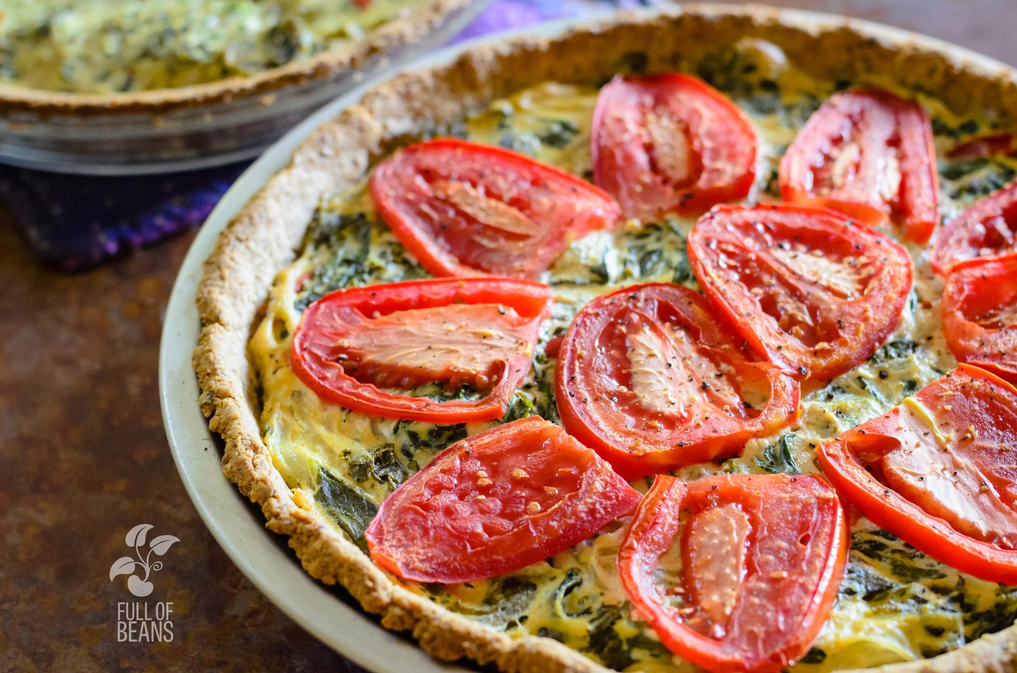 Vegan Gluten-free Quiche + Adapting Recipes