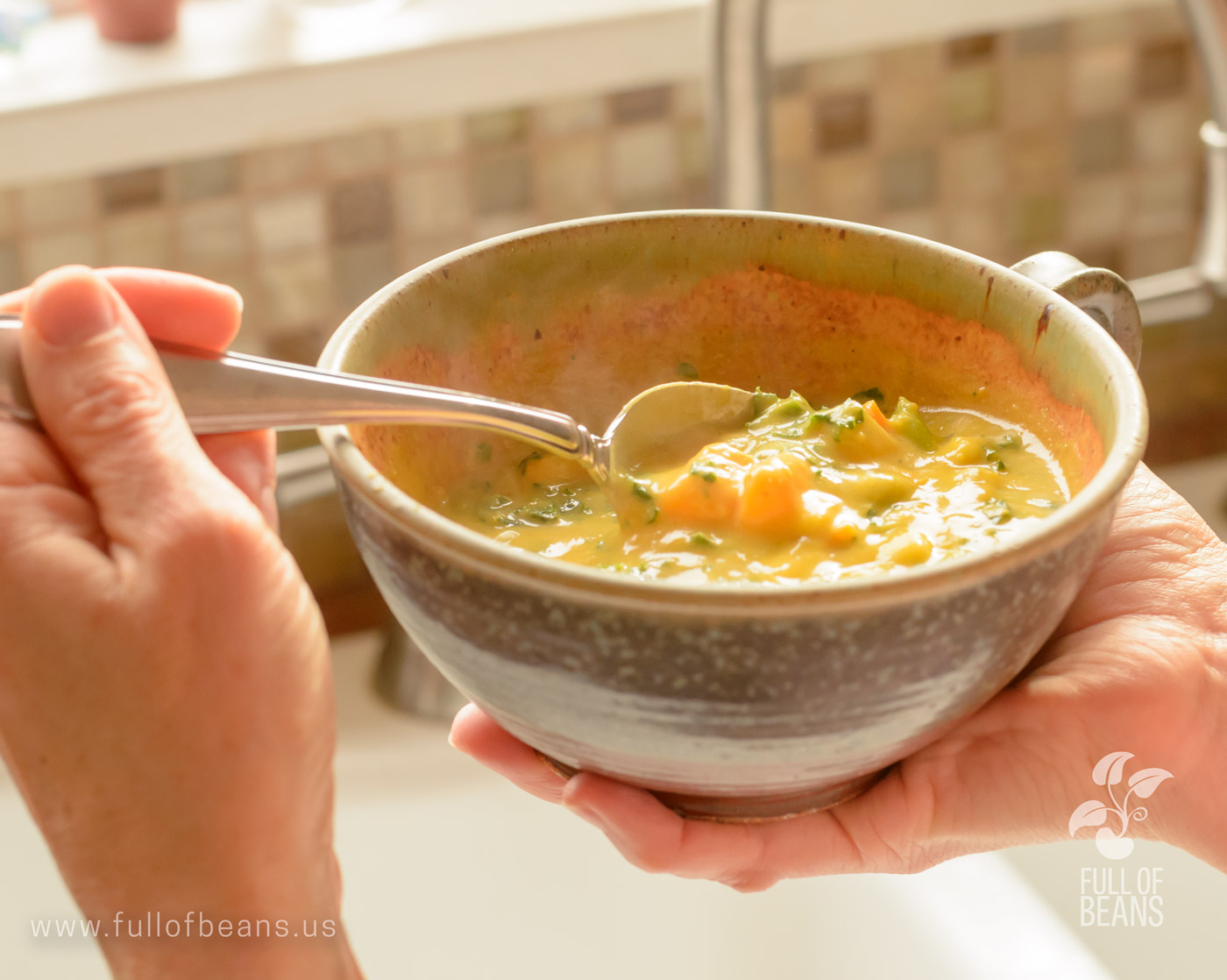 Vegan Corn Chowder With Sweet Potatoes