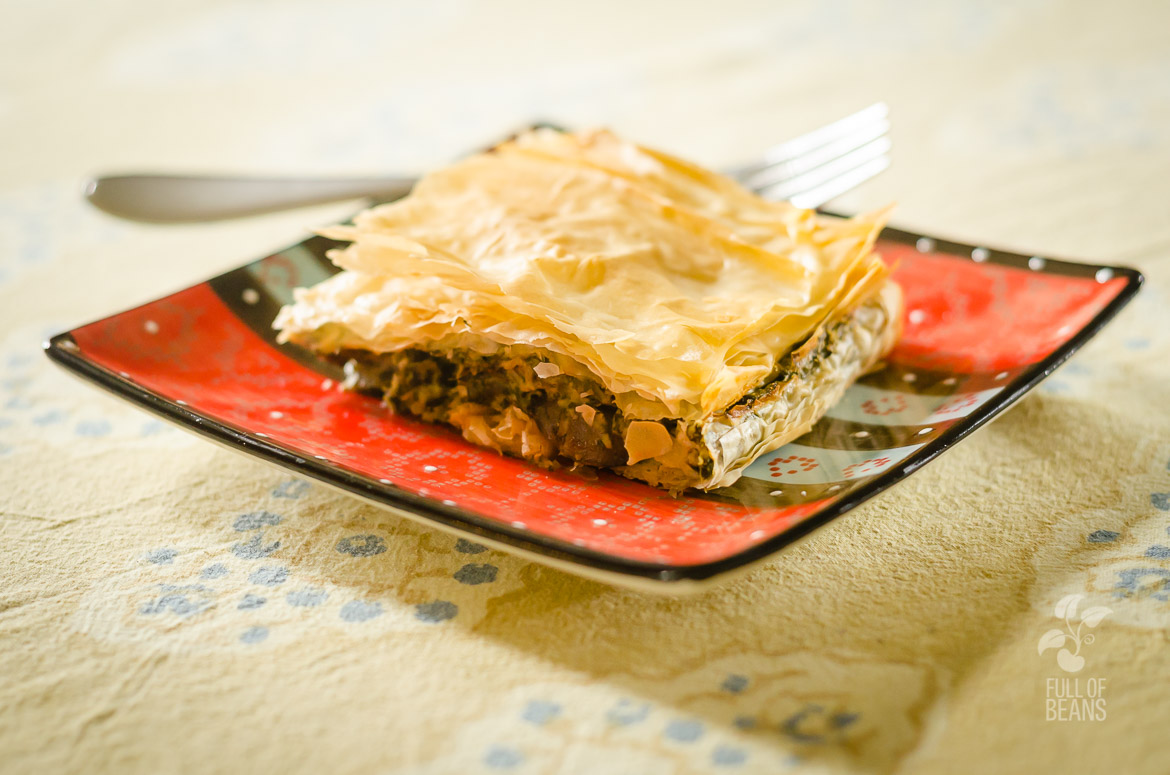 Delicious Vegan Spinach Pie - quick, before it's gone!