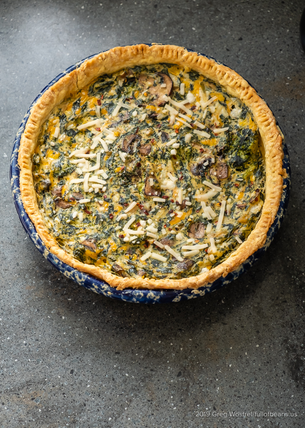 Vegan Spinach And Broccoli Quiche - Full Of Beans
